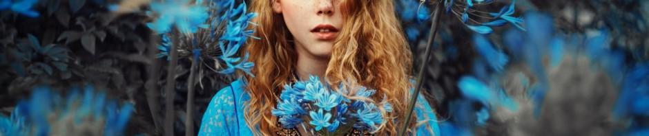 como-maquillarse-para-vestir-con-vestido-azul